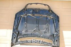 00 01 02 Mercedes Benz W220 S500 S600 S55 Amg Hood Panel Black Oem