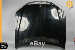 00-02 Mercedes W220 S500 S600 S55 AMG Hood Panel Assembly Black OEM