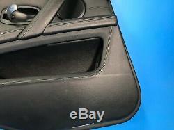 08 09 10 Bmw E60 M5 Rear Left Driver Side Door Panel Black Brushed Aluminum