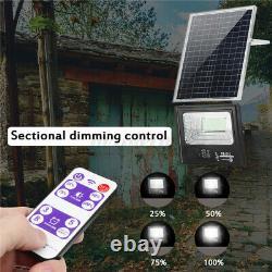 100/200W Solar Panel bluetooth Music Flood Light Outdoor Wall Lamp + Dual Remote
