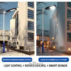 100W-400W LED Solar Panel Street Light PIR Motion Sensor Wall Lamp + Remote Home