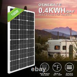 100W Solar Panel Powered Bionaire Thin Window Quiet Cool Fan Attic Gable Fan Kit