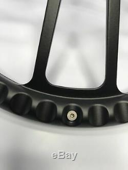 14 Black Billet Steering Wheel (Black Half Wrap, Horn Button, Hub Adapter E07)