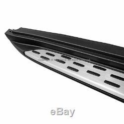 15-18 MB X156 GLA-Class SUV Aluminum Running Board Side Steps Rail Nerf Bars L+R