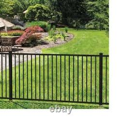 180 LINEAR FEET OF 4' HIGH TEXAS STYLE ALUMINUM POOL CODE FENCE withPOSTS & CAPS