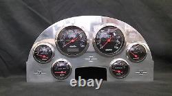 1956 Ford Car 6 Gauge Dash Panel Insert Polished Aluminum Programmable Black