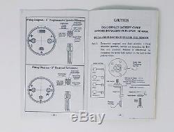 1957 Ford Car 5 Gauge Dash Panel Insert Cluster Set Billet Aluminum Black