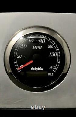 1959 Ford Car GPS 5 Gauge Dash Panel Set Polished Billet Aluminum Black