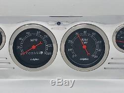 1966 GMC Truck 6 Gauge Dash Panel Insert Set Billet Aluminum Black