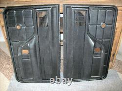 1973-1979 73 79 Ford Pickup Truck Bronco BLACK DRIVER PASSENGER Door Panels