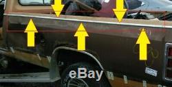 1981-1993 Dodge D150 D250 D350 Driver Bed Side Top Chrome Trim Crown Molding Oem