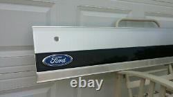 1992-1996 Ford Bronco Tailgate Aluminum Trim Panel Black Reflector Very Nice