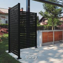 2 Ft. X 4 Ft. Decorative Screen Panel Matte Black Aluminum Corner Post Extension