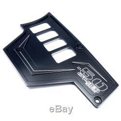2 Piece 8 Switch Dash Panel Aluminum Black Powdercoated fits Polaris RZR XP1000
