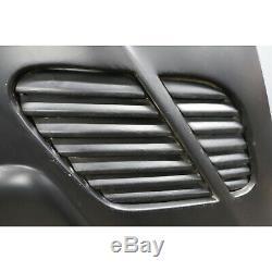2000-2006 BMW E46 2dr Aftermarket M3 GTR Style Fiber Glass Hood Panel Black