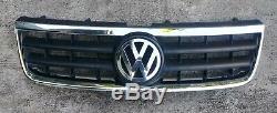 2004 05 06 07 VW Touareg Front UPPER Bumper Grille Grill Trim Chrome Emblem OEM