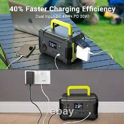 200W 62400mAh Solar Portable Power Station Generator Power Supply + 60W Panel