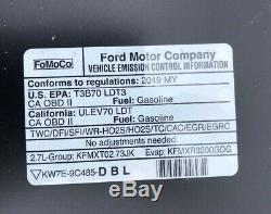 2015 2016 2017 2018 2019 2020 Ford F-150 F150 Aluminum Hood Panel OEM Black