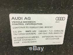 2019 2020 Audi A7 S7 Hood Bonnet Shell Panel OEM Aluminum Black