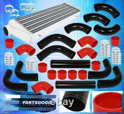 27.5 X 2.3 X 7 Aluminum Race Intercooler + 2.5 Diy Custom Piping Kit+Coupler