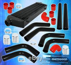 27.5 X 2.7 X 7 Aluminum Race Intercooler + 2.5 Diy Custom Piping Kit+Coupler