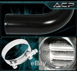 27.5X7X2.25 Aluminum Race Intercooler+ X8 2.5 Diy Piping Kit+Couplers Blk