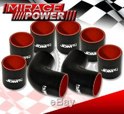 27X7X2.5 Turbo Charger Aluminum Intercooler +Light Weight Blk Piping Pipe Kit