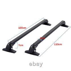 2PCS Universal Car Roof Rail Luggage Rack Baggage Carrier Cross Bar CNC Aluminum