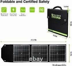 300W 78000mAh Solar Portable Power Station Generator Power Supply+Solar Panel