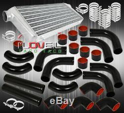 31X11.5X3 Aluminum Turbo Intercooler + 75mm Piping Kit Upgrade +Coupler Blk