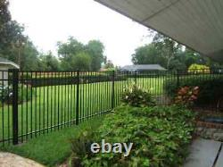 36 LINEAR FEET OF 4' HIGH GEORGIA STYLE ALUMINUM FENCE withPOSTS & CAPS