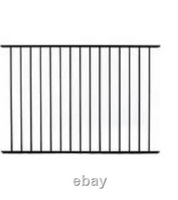 36 LINEAR FEET OF 4' HIGH TEXAS STYLE ALUMINUM POOL CODE FENCE withPOSTS & CAPS