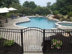 36 LINEAR FEET OF 54 HIGH GEORGIA STYLE ALUMINUM POOL CODE FENCE withPOSTS & CAPS