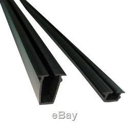 (4 Pack) Peak Aluminum Railing 6' black / glass panel gasket