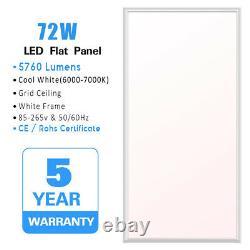 4PCS 2x4 FT LED Flat Panel Troffer Light 72W Drop Ceiling Light Recessed 9000lm