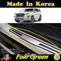 4PCS Inside Door Scuff Protector Step Plate for HYUNDAI 2019-2021 Palisade