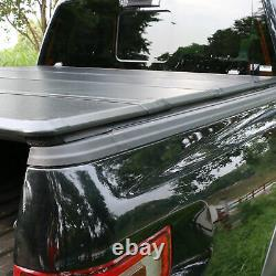 5.5' Hard Quad-Fold Truck Bed For 07-21 Toyota Tundra Crewmax Cab Tonneau Cover
