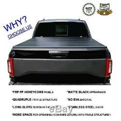 5'8 Hard Quad-Fold Bed For 07-18 Silverado Sierra 19+ Classic Tonneau Cover