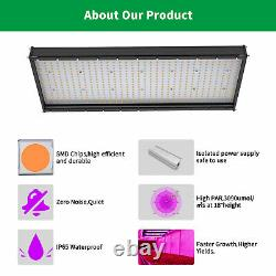 5000W LED Grow Light Full Spectrum Hydroponic Plant Grow Panel Water-Resistant