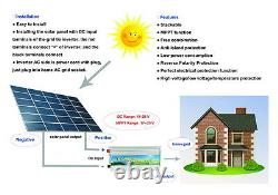 500W1000W grid tie power inverter, DC 11V28V/22V56V, AC 110V/240V, solar panel