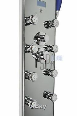52 Silver Aluminum Hot Water Bath Rainfall Shower Panel Column Tower Heating