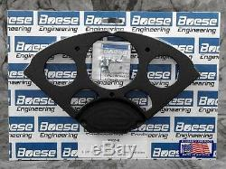 55-56 Chevy Anodized Aluminum Dash Panel with Auto Meter Designer Black Gauges