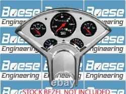 55-56 Chevy Billet Aluminum Gauge Panel Insert with Auto Meter Designer Black Dash