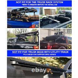 6.5' Hard Quad-Fold Truck Bed For 07-14 Silverado Sierra New Body Tonneau Cover
