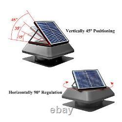 6 Pack 1750 CFM Solar Attic Fan IP68 Brushless DC Motor Adjustable Panel 40db