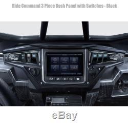 6 Switch 3 Piece Dash Panel Aluminum Black Powdercoated for Polaris RZR XP1000