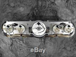 65 66 Mustang Billet Aluminum Adapter Panels with Auto Meter Old Tyme Black Gauges