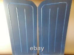 68-74 Nova black anodized aluminum door panels