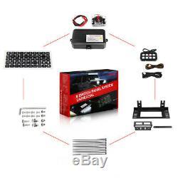 8 Gang LED Switch Panel 12V/24V Interior Controls Car Boat Marine Pickup Truck