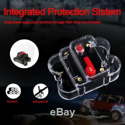 8 Gang On-off Control Switch Panel Set For Jeep SUV UTV ATV + Mounting Hardware